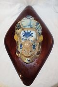Ancient Chinese Tile Oriental Plaque Ceramic And Concrete Detailed Dragon