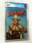 Gene Autry Comics 37 Cgc 3.0 Off-white Pgs 2 Photo Covers Front/rear March 1950