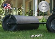 Tow Behind Lawn Roller Yard Grass Care Tractor Attachment Poly Water 400 Lb Usa