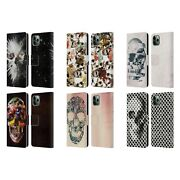 Official Ali Gulec Skull Leather Book Wallet Case Cover For Apple Iphone Phones