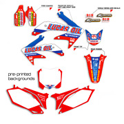 2013 - 2019 Honda Crf 50 Sticker Graphics Kit Crf50 Lucas Oil With Backgrounds