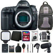 Canon Eos 5d Mark Iv Dslr Camera Body + Battery Replacement And Charger + Kit