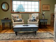 One Of A Kind Set Of Tables-andnbsp Antique Drawers Re-purposed Coffee And End Tables