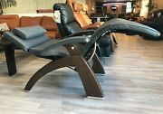 Pc-live Pc-420 Manual Human Touch Perfect Chair Recliner Grey Premium Leather