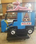 Pink Panther Police Car Coin Operated Kiddie Ride