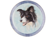 A Hand Painted Janet Gadsby Border Collie Plate Great Quality