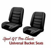 Sport Gt Pro Classic - Complete Universal Bucket Seat Set - New From Tmi Usa