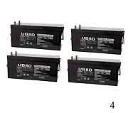 Upg 24v 500ah Agm Deep Cycle Battery For Bank Offgrid Solar Wind - 4 Pack