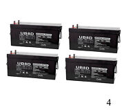 Upg 12v 250ah Replaces Bucyrus-erie Co. 45-r Rotary Drill 55-84 900cca - 4 Pack