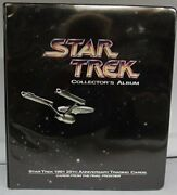 Star Trek Collectors Album 1991 Impel With Complete Card Set And Chase Holograms