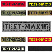 Custom 1x5 Your Name Tape Army Military Morale Tactical Laser Cut Patch Cst