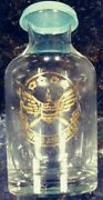 Rare Antique United Airlines Airplane Miniature Glass Bottle W Lid 4 1/4 Tall