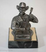 Michael Ricker Pewter Sculpture Figure Of Roy Rodgers Signed And Limited Edition