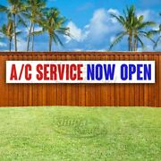 A/c Service Now Open Advertising Vinyl Banner Flag Sign Large Huge Xxl Size