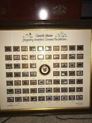Ducks Unlimited Framed Waterfowl Cloisonne Pin Collection