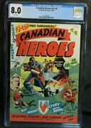 Cgc 8.0 Graded Canadian Heroes Vol. 2 6 - Rare Canadian White Edition