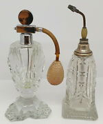 Antiques And Collectibles 1930's Or 1950's Set Of Perfume Bottles Sk