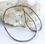 Diamond Necklace Precious Stone Braun Facetted Top Quality New 22kt