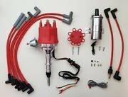 Small Cap Chevy Inline 6 230 250 292 Hei Distributor + Chrome Coil + Red Wires