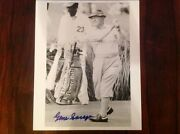 Very Rare Autographed Gene Sarazen At Augusta National Hitting A Tee Shot