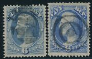 O38 6c Navy Dept 2 Diff Xf Used With Fancy Cancels Bu7475