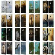 Official Simone Gatterwe Animals Leather Book Wallet Case For Motorola Phones