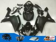 Injection Molded Fairing Fit For Yamaha 2007-2008 Yzf R1 Black Abs Plastics H02b