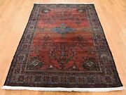 4and0392x6and0394 Antique Fereghan Worn But Soft Handknotted Fine Oriental Rug G44940