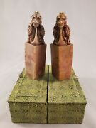 Unique Pair Of Handmade Miniature Chinese Soapstone Seals With Boxes