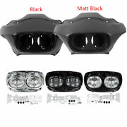 Inner Outer Fairing 5.75and039and039 Dual Led Headlights For Harley Road Glide 1998-2013