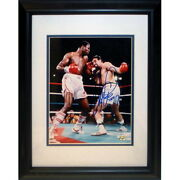 Larry Holmes And Gerry Cooney Dual Signed Super Huge 30x40 Photo Matte Frame 33x44