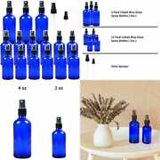 Youngever 15 Pack Empty Cobalt Blue Glass Spray Bottles 3 4 Oz And 12 2 Refillable
