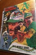 As Fans 1973 World Series Program Oakland Aand039s Vs Ny Mets With 6 Signatures