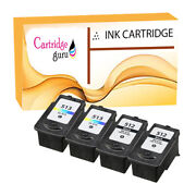 4 Ink Cartridge For Canon Mp260 Mp270 Mp272 Mp280 Mp282 Mp330 Mp480 Pg512 Cl513