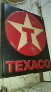 Vintage Large Texaco Gas Sign Hard Plastic 3d Star 74 X 71 Mounted Lighted