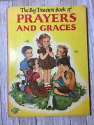 The Big Treasures Book Of Prayers And Graces Christian Childrens Vtg Book Large