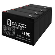 Mighty Max 6v 12ah F2 Battery Replacement For Sola Sps/r1500a Spsr1000a - 4 Pack