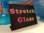 Iridescent Stretch Glass Sign Great For Dealers Or Collectors