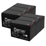 Mighty Max 12v 15ah F2 Battery Replacement For Lowrance Fish Finder - 6 Pack