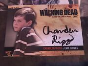 The Walking Dead S1 Autograph Card A7 Chandler Riggs As Carl Grimes