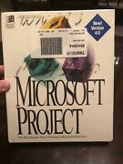 Microsoft Project V4.0 Vintage Software W/ 3.5 Diskettes Rare Unopened Free Snh