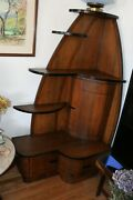 Original Vintage Art Deco Corner Hutch Made In Brooklyn, Ny From The 1930s