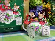 Carlton Sister To Sister Ornament Teapot With Mice Lovely