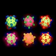 Lumistick 2.5 Led Bouncy Spikes Ball Glowing Bright Color Blinking Light Lot