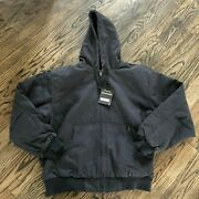 Dri Duck Hooded Boulder Cloth Cheyenne Jacket Quilt Lined Charcoal 5020 Nwt 75