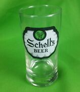 Rare August Schell's Brewery Beer Vintage Bar Glass New Ulm Mn Advertising Vtg