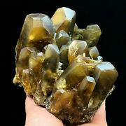 Rare Natural Translucent Golden Yellow Barite Crystal Mineral Specimen/china