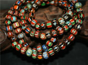 Real Old Antique African Trade Glass Beads Chevron Art Necklace Africa Venetian