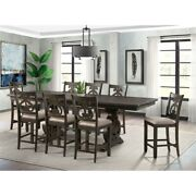 Picket House Stanford Counter Height 9 Piece Dining Set With Swirl Back Chairs
