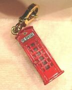 2009 Juicy Couture London Phone Booth Charm Rare Retired Vhtf Nwt